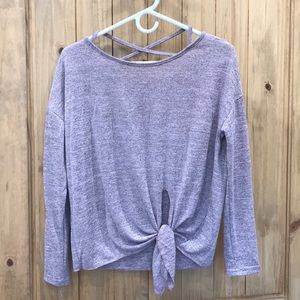 Casual cross cross back sweater